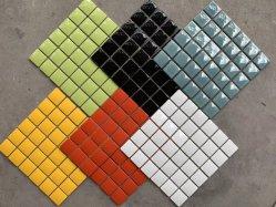 Vários tamanhos misturados quadrado cor azul do projeto da parede personalizado Piscina Privada Mosaico Mosaico de vidro