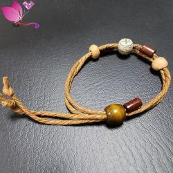 2021 nuovo Moda retro Buddha Perle in legno corda bracciale a mano Gioielli
