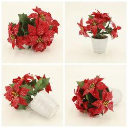 Оптовая торговля персонализированные рождественских украшений с помощью потенциометра Poinsettia Giltter Dy1-3685b