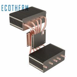 열 냉각 돌출 알루미늄 핀 소결 구리 히트 파이프 용접 방열판