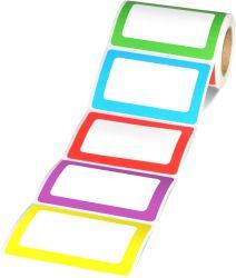"""5 لون لصوقة [نم تغ] علامة مميّزة, 250 لاصقات 3.5 """" [إكس] 2.25 """" بطاقات جلّيّة لأنّ مكسب & مدرسة"""