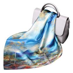 De betaalbare Sjaal van het Kasjmier van de Zijde van de Vrouwen van de Douane van de Productie van de Fabriek van de Luxe Ontwerp Afgedrukte Modale