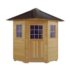Sauna buiten 4-persoons Finse sauna