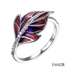 Venta caliente 925 Joyería de Plata anillo de esmalte Conjunto de joyas