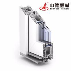 Anti-UV de alta calidad de plástico de UPVC ventana de PVC de perfiles extruidos perfiles de UPVC