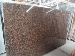Buen precio China marrón Báltico losas de granito pulido para prefabricados Cocina Cuarto de baño de cortesía de la Encimera arriba