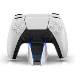 شاحن مزدوج سريع لشحن وحدة التحكم اللاسلكية PS5 USB من النوع C محطة إرساء بقاعدة لـ Playstation5 من سوني لعبة Gamepad جديدة