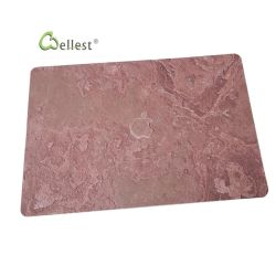 Venta caliente Natural Real ultra delgada cubierta de piedras calientes MacBook cubierta de piedras tapa roja