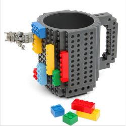 Commerce de gros bon marché DIY promotionnels Build-sur des blocs de construction en plastique de briques Lego drôle de tasse de café tasse tasse de thé pour les enfants Cadeaux