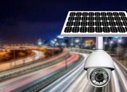 LongVolt Energy Solar 전원 공급 IP/CCTV 카메라, 원격 음성 채팅/완전 지원 컬러/360° 풀샷/원격 알람/마이크로 SD/3MP HD/4G 네트워크/IP66 방전