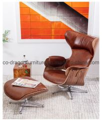 現代ホーム家具の余暇の快適な最高背部回転イスのラウンジの革居間のソファーのオフィスの椅子
