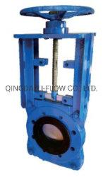 풀 고무 슬리브 라이닝된 슬러리 나이프 게이트 밸브 중부하 작업