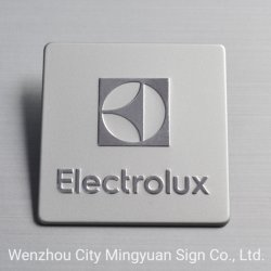Luxuxmetallaluminium/Kupfer/Stahltypenschild-Firmenzeichen-Metallabzeichen mit Spiegel-Effekt und dem 3m Kleber
