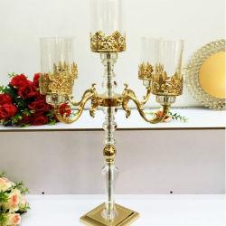 Belangrijkste van het Huwelijk van het Kristal van de Wapens van de Orkaan van het glas Kandelabers