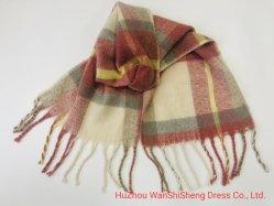 Kasjmier van de Omslagen van de Sjaal van de Winter van de Daling van vrouwen voelt het Warme Lange Grote Sjaals Geweven Grote Gecontroleerde Plaid Geborstelde Sjaal