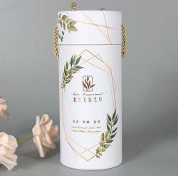 Sombrero redondo de papel cartón rígido de latas de joyas de tubo de la caja de regalo cajas de embalaje para el Té / Café / Tinto / Flores / Chocolate caramelos