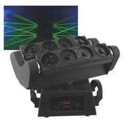 DJ проектор 8 Глаз зеленый лазер перемещение головки крестовина лазера