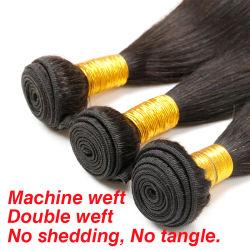Grade 10um cabelo Virgem brasileira, de cabelo humano, Tecelagem de fio de cabelo humano preço de fábrica um cabelo liso