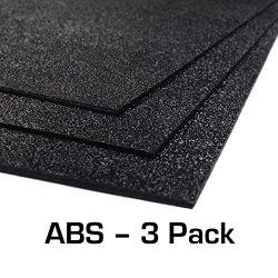 ABS プラスチックシート 3 パック 12 インチ X 24 インチ X 0.0625 インチ( 1/16 インチ) 3 パック、ブラックヘアセル、ホビー用、 DIY 用、産業用。 カット、ベンド、モールドが簡単