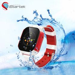 Smartwatch 추적자 GPS가 아이들 GSM 카드 아이 시계 아이 지능적인 시계 새로운 전자 착용에 의하여 농담을 한다