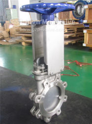 Valvola con punto di iniezione a tenuta metallica con coltello WCB/CF8/CF8M/CF3/CF3m ad alte prestazioni Con volantino