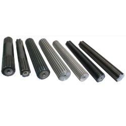 맞춤형 Alloy Steel Spline 복잡한 샤프트 하드 크롬 단조 주조 45C 카본 스틸 변속기 어댑터 스플라인 기어 샤프트 액슬