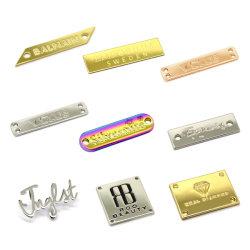 Hochwertige Custom Garment Metall Etiketten Metall Logo für Handtaschen