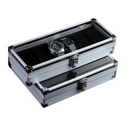 Caixa de relógio de alumínio Vitrine Jóias Collection Dom titular do documento do Organizador
