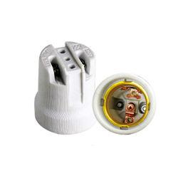 Heiße keramische Lampen-Unterseite der Verkaufs-Schrauben-E27 F519, Lampen-Zubehör-Birnen-Halter-Lampenhalter E27 der Kontaktbuchse-E27