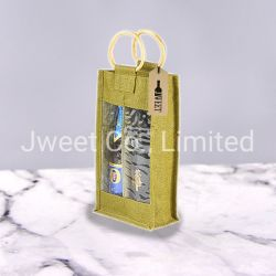 Многоразовые бутылки вина Hand-Held подарок мешки джутовые мешки брелоки