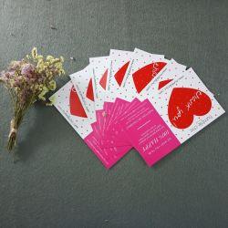 تحية عالية الجودة تعليمات ذاتية ملونة ورقة العمل الفاخرة شكرا لك بطاقات مخصصة مع شعار