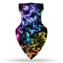 도매에 의하여 인쇄되는 폴리에스테 형식 반대로 UV 실크 스카프 마스크 덮개