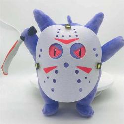 Funny Cartoon Character Purple Monster recheadas Sessão de pelúcia Máscara Animal Brinquedos com velado