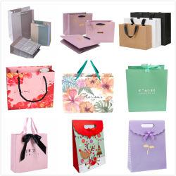 Kleidet kundenspezifischer Luxus aufbereitete Drucken-Form-Verpackungs-kosmetische Kaffee-Nahrungsmittelwein-Perücke-Duftstoff-Schokolade Schuh-Weihnachtsverpackende fördernde PapierEinkaufstasche