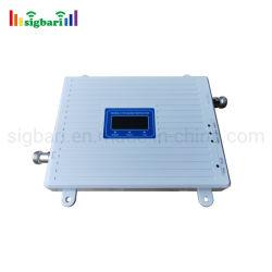 최신 판매 3배 악대 신호 승압기 GSM/Dcs/Lte 2g 3G 4G 900 1800의 2100 MHz 이동할 수 있는 신호 중계기
