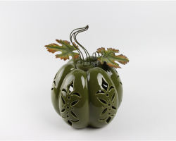 Fabricação porcelana pintado à mão cerâmica stoneware Home decoração decoração decorativa Cute para o feriado de Thanksgiving da colheita de Halloween - abóbora cerâmica da folha de bordo