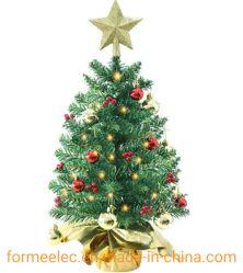 60cm 테이블 - 크리스마스 볼 배터리가 있는 최고 골든 스타 크리스마스 트리 램프