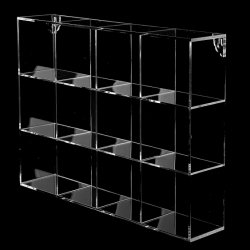고품질 작은 까만 아크릴 전시 상자