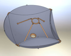 2.4M pliable Vehicle-Mounted antenne parabolique de fibre de carbone