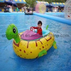 precio de fábrica forma animal juguetes acuáticos motorizados eléctricos de batería niños inflables para la venta de barco de parachoques