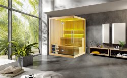 Casa de luxo Sauna Saunas seca populares M-6031 com Fogão Harvia