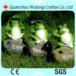 Posture assise en résine Hotsale adorable grenouille Figurine décoration de jardin