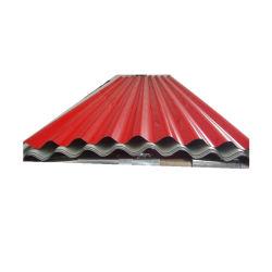 PPGI des matériaux de construction enduits de couleur toit métallique en acier ondulé galvanisé prélaqué tôle de toit au Ghana