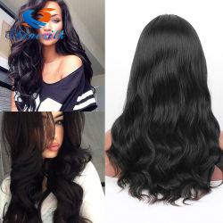 Usine repère naturelle des cheveux humains Full Lace Wig avant