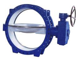 El hierro dúctil de accionamiento eléctrico solo la junta de goma recubiertos de caucho EPDM de brida Válvula de mariposa