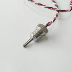 Flexible 1/8 NPT 1/4 personnalisé Visser la vis de fixation de thermistance CTP NTC RTD PT100 avec capteur de température PT1000 Ss maison métallique en laiton