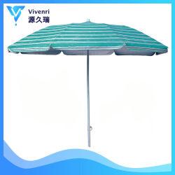 6FT de gevouwen Paraplu van het Strand met de Draagbare Zilveren Deklaag van de Schuine stand binnen UVBescherming