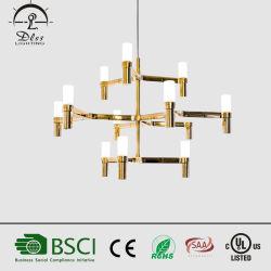 現代創造的な芸術の設計木のペンダントの照明は反響室のために ガラス LED キャンドルシャンデリア