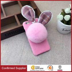 لطيف ودافئة وثيرة فيللي فور نسيج البلش الجلد الأرنب الأذن علبة الهاتف لهاتف iPhone