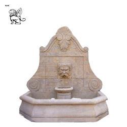 Tête de Lion sculpté en Pierre Fontaine le Mur de Marbre